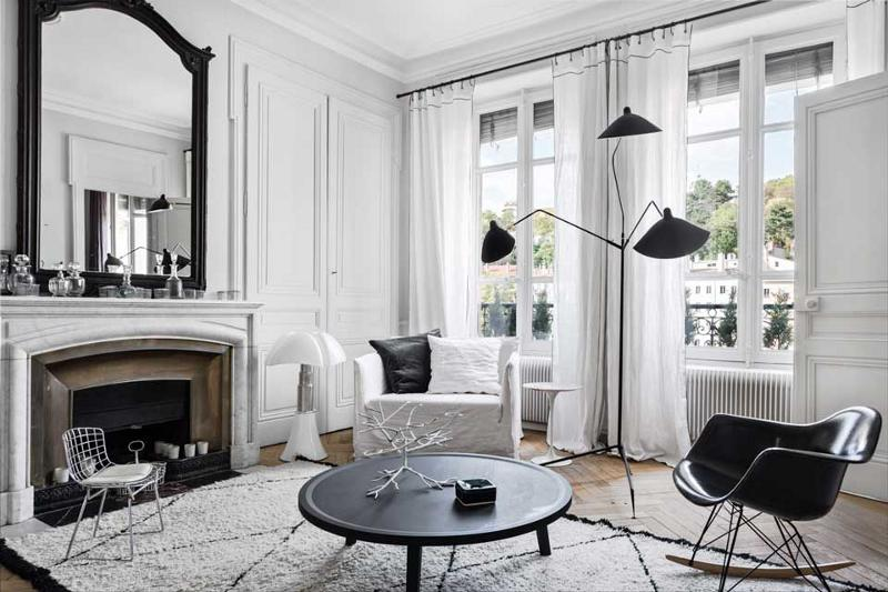 Black-and-white-popular-combination-for-living-room